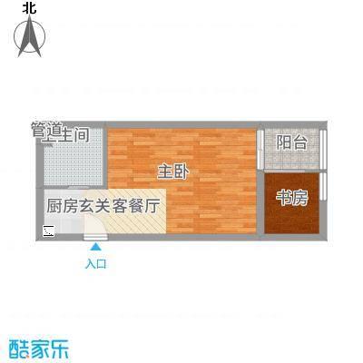 华夏世贸广场C户型2室1厅1卫1厨