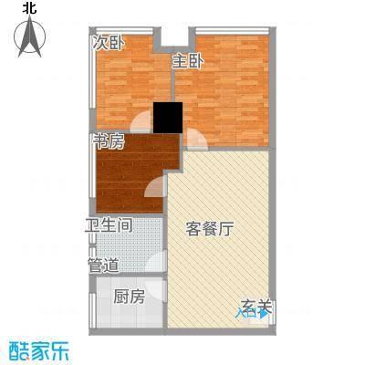 华夏世贸广场A户型3室2厅1卫1厨