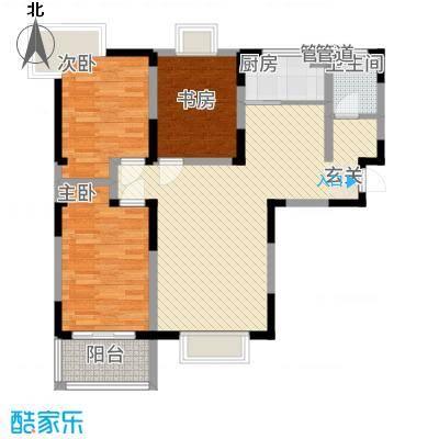 苹果乐园户型A1-3室2厅1卫-约107.83M²