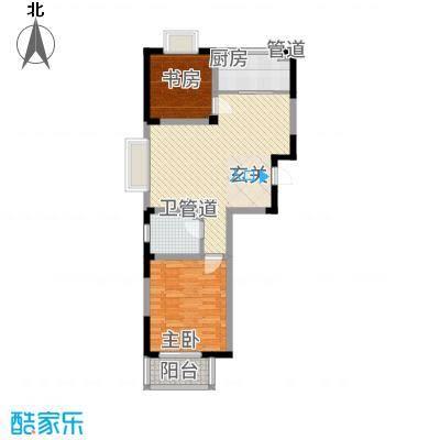 苹果乐园户型C1-2室2厅1卫-约88.8M²