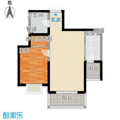 教授花园IV期碧山临海7#楼02户型-1室2厅1卫-约77.32M²