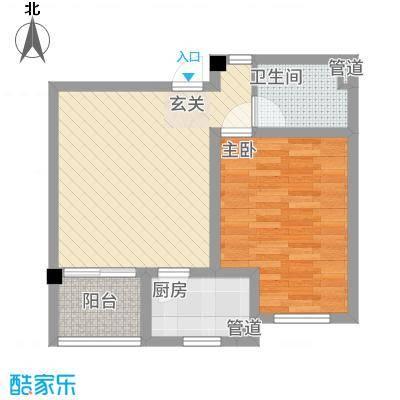 教授花园三期新里程74#-B-1室1厅1卫-约56.62M²
