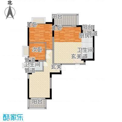 教授花园IV期碧山临海6#楼0506户型-2室1厅1卫-约64M²