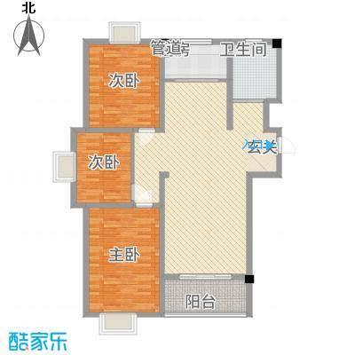 教授花园三期新里程74#-A-3室2厅1卫-约121.43M²