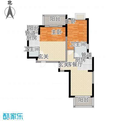 教授花园IV期碧山临海6#楼0102户型-1室1厅1卫-约44M²