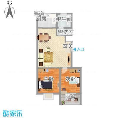 中阳・渤海花园872.20㎡户型2室2厅1卫1厨-副本