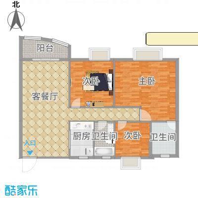 皇龙新城9#-B户型4室2厅2卫1厨-副本