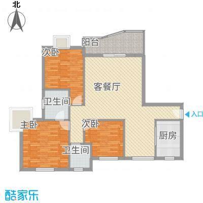 皇龙新城11#-A户型3室2厅2卫1厨-副本