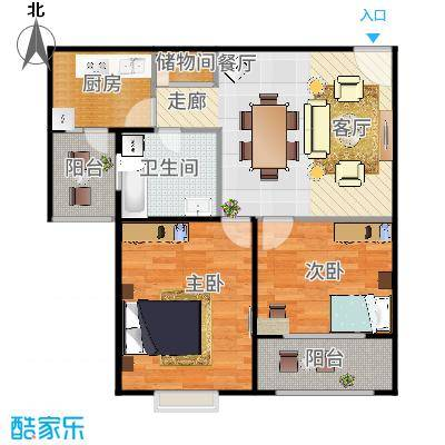 中梅苑三期70.00㎡房型: 一房; 面积段: 70 -80 平方米;户型-副本