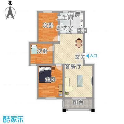 幸福里户型图户型图3室2厅1卫1厨户型3室2厅1卫1厨