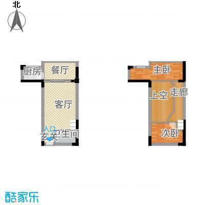 海景1号121641.20㎡2#16LOFT公寓户型