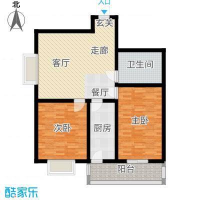 中铁绿洲一户型2室1厅1卫1厨-副本