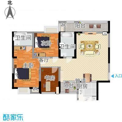 纳帕溪谷纳帕溪谷户型图四期幸会E1户型3室2厅2卫1厨户型3室2厅2卫1厨-副本