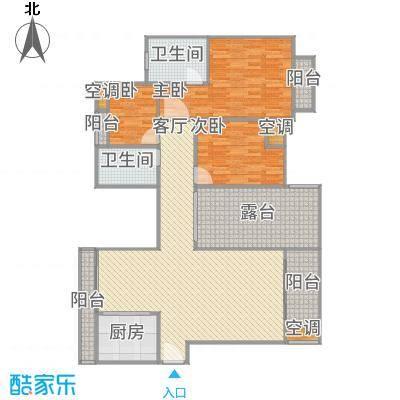 廊院大杂3-901A户型三室两厅