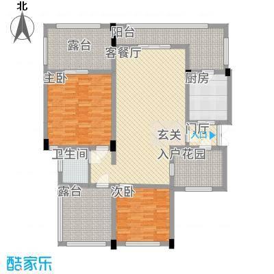 匀上・香格里拉44.21㎡S4户型3室2厅1卫1厨