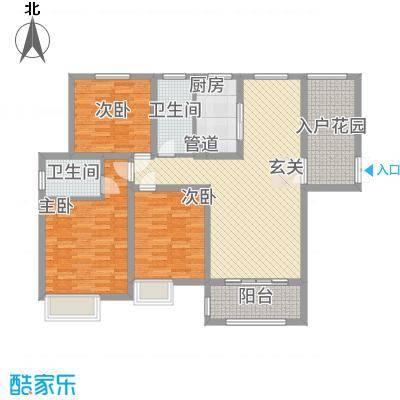 中建・城中壹号公馆137.00㎡二期8号楼标准层a2户型3室2厅2卫1厨-副本