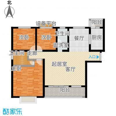 中原国际时代皇庭户型3室2卫1厨-副本
