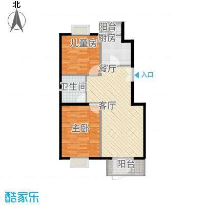 上海沙龙85.90㎡A2户型两室两厅一卫户型-副本