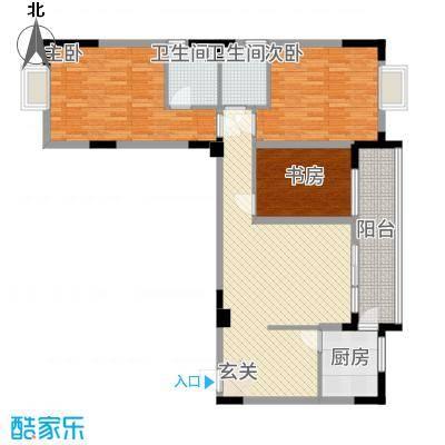 民福苑三期荷风苑1115.41㎡A1户型3室2厅2卫1厨