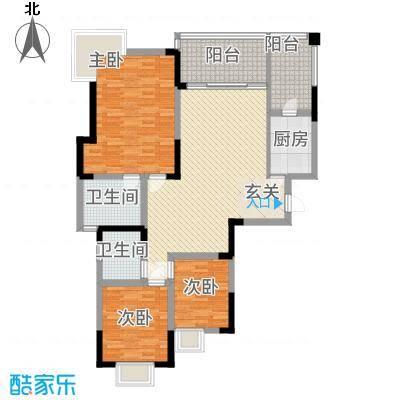筑境100二期1211.28㎡C2户型3室2厅2卫1厨
