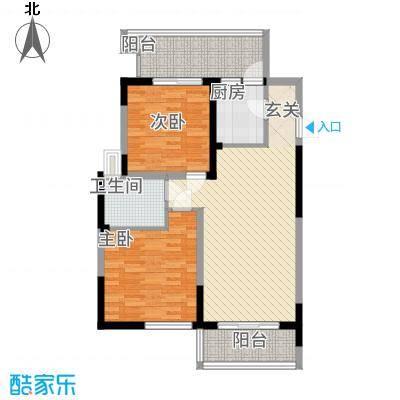 民福苑三期荷风苑2.68㎡G户型2室1厅1卫1厨