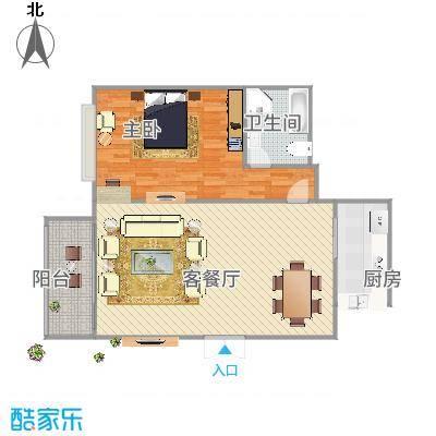 紫庭花园120方A2户型三室两厅