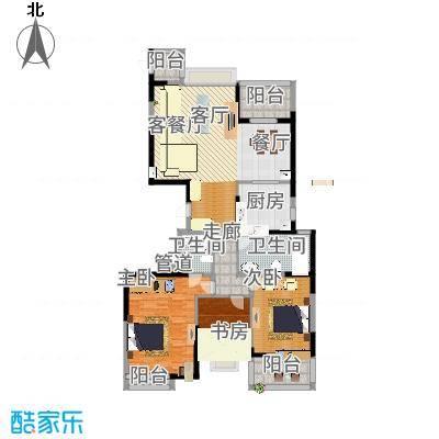 海琴湾户型3室1厅2卫1厨-副本
