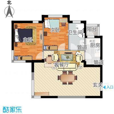 永盛广场 户型2室2厅-副本