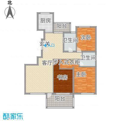 香格里149.00㎡3号楼G户型3室3厅2卫1厨