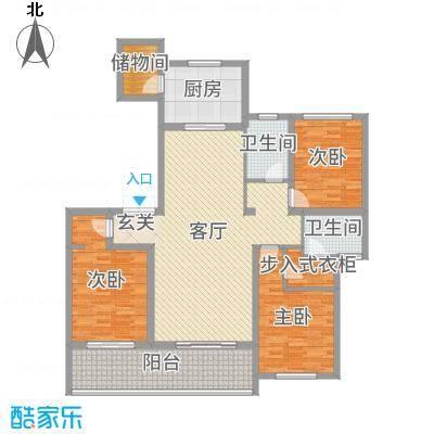 新城帝景146.00㎡33#标准层智慧园首户型3室3厅2卫1厨