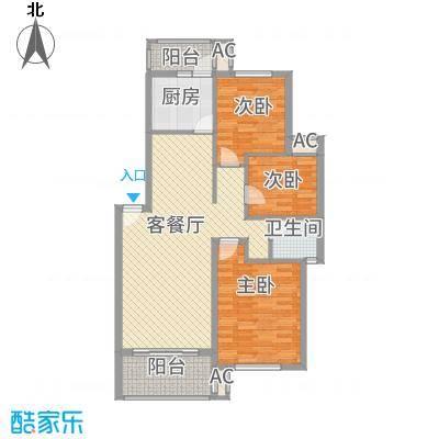 长坡社区90.00㎡2室1厅1卫1厨户型3室1厅1卫1厨-副本
