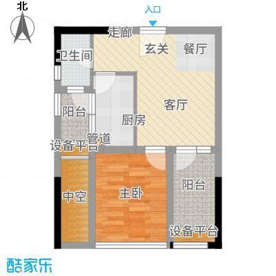 大有智慧广场48.00㎡一期2号楼标准层B1户型