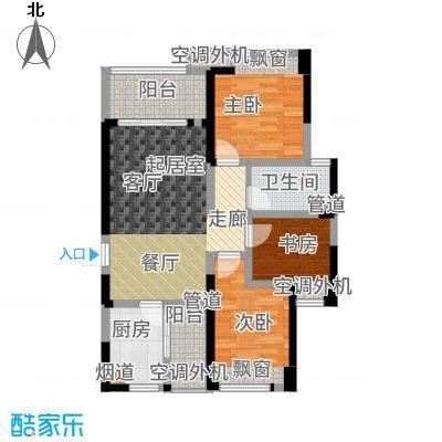 绿地之窗98.00㎡一期4号楼标准层A1户型