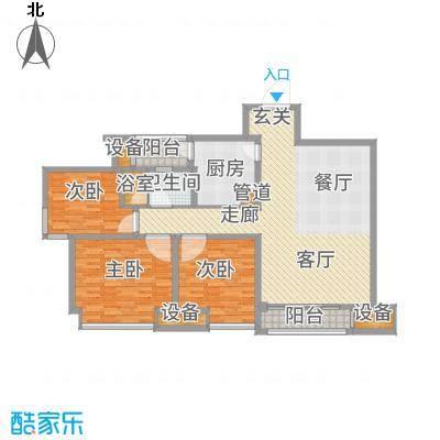 龙湖时代天街90.00㎡3期13号楼、15号楼标准层A4户型