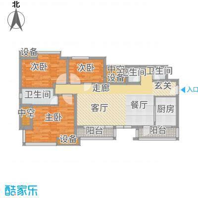 龙湖时代天街109.00㎡3期13号楼标准层A3户型