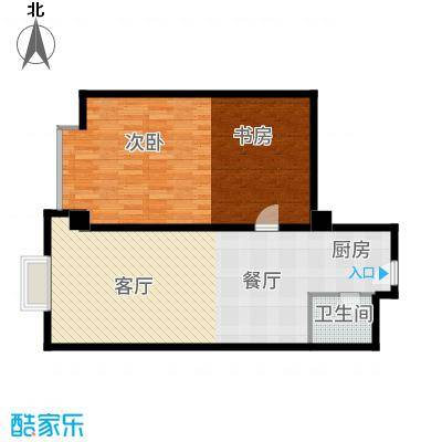 裕园公寓81.00㎡面积8100m户型