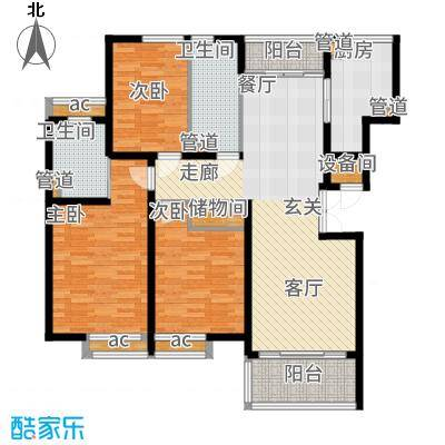 金色家园113.00㎡面积11300m户型