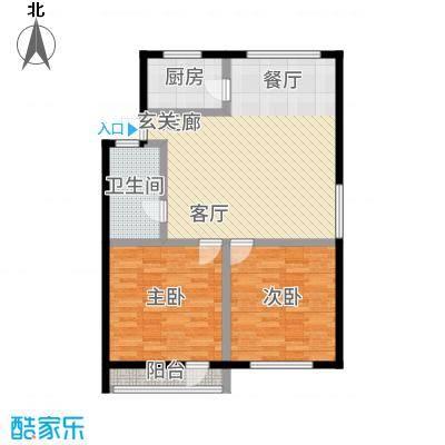 德胜东村89.00㎡面积8900m户型