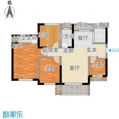 胜家雅苑114.29㎡D户型
