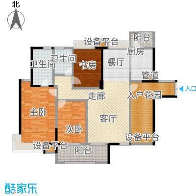 藏珑湖上国际社区143.00㎡板式户型