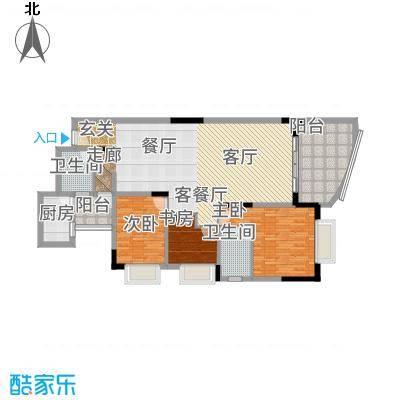 协信巴南新天地109.12㎡房型户型