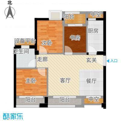 泉舜泉水湾91.00㎡A户型