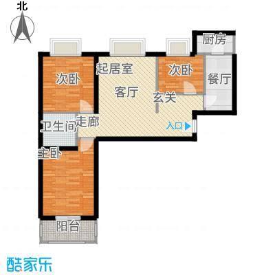 富康苑户型3室1厅1卫1厨