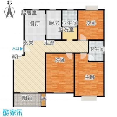 盛泉新城户型3室2卫1厨