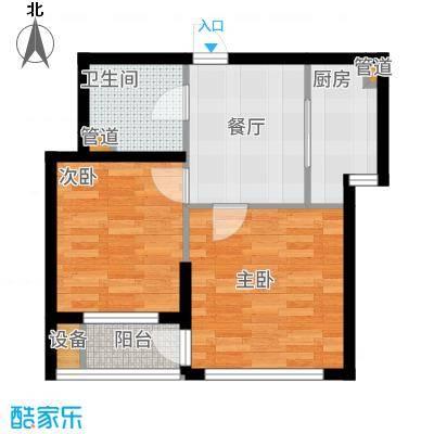 香山翌景户型2室1厅1卫1厨