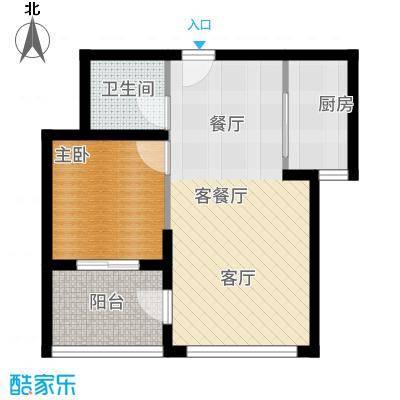 香山翌景户型1室1厅1卫1厨