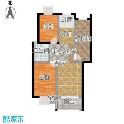锦绣花园户型2室1厅1卫
