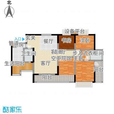 润锦・御珑山御珑山141.84㎡润锦御珑山一期5号楼标准层C3璀璨华宅户型
