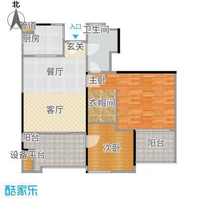 万科金色家园92.00㎡C栋403-3003单元户型