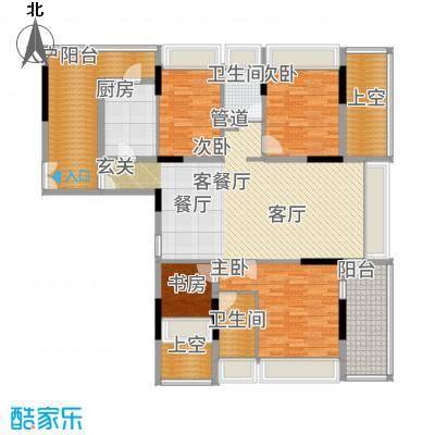 金地梅陇镇140.00㎡房型户型